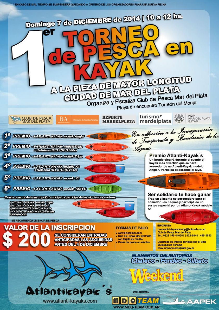 afiche kayak fishing