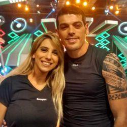 Cinthia Fernandez y Cristian U en Combate