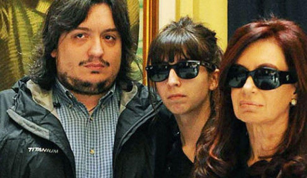 Máximo, Florencia y CFK.