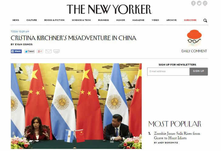 Lapidaria columna contra CFK en The New Yorker  0732ddbe355