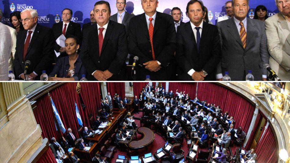 El senado se partió en dos para tratar el caso Nisman.