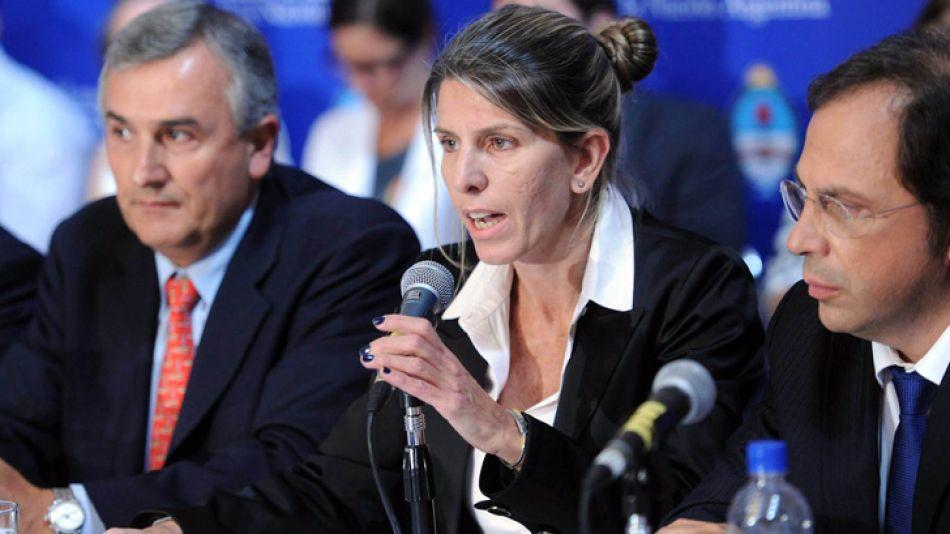 Sandra Arroyo Salgado en el Congreso de la Nación.