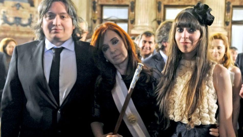 Máximo y Cristina Kirchner.