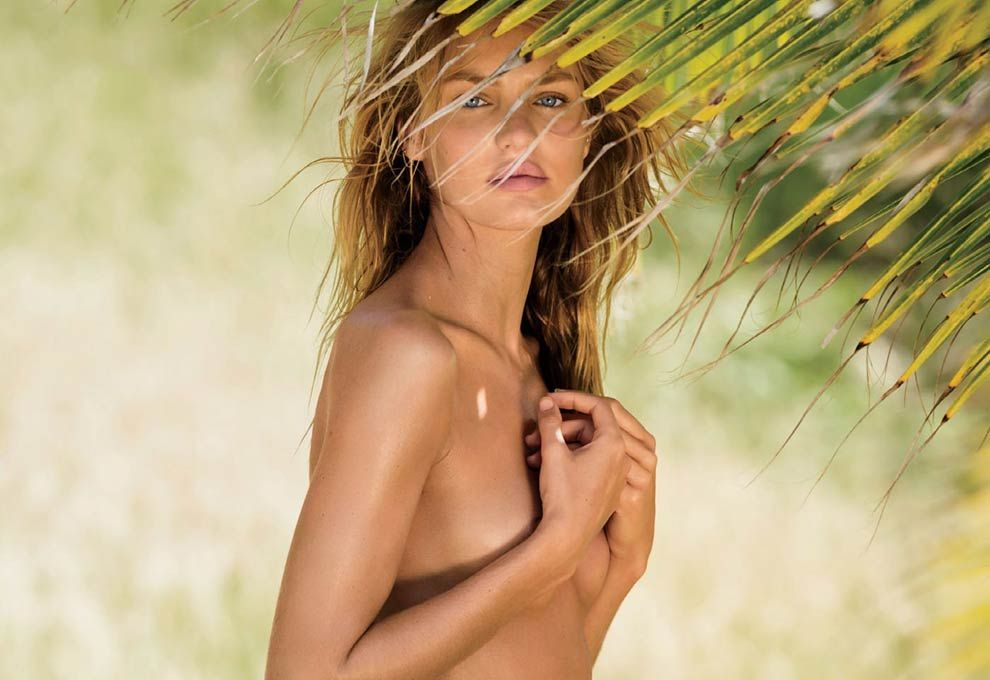 Candice swanepoel topless for lui magazine