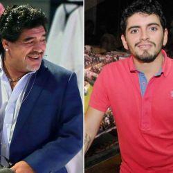 Diego Maradona y Diego Jr