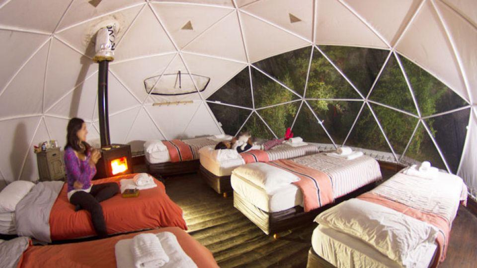 En Calafate. Adventure Domes propone dormir cerca del glaciar Perito Moreno, pero con cocinero propio y todas las comodidades. Los turistas extranjeros son los que más lo eligen.