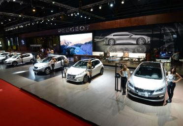 Stand de Peugeot en el Salón del Automóvil de Buenos Aires.