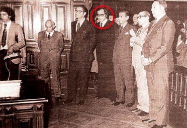 PASADO. Zaffaroni de joven cuando trabajaba como juez durante la última dictadura militar.