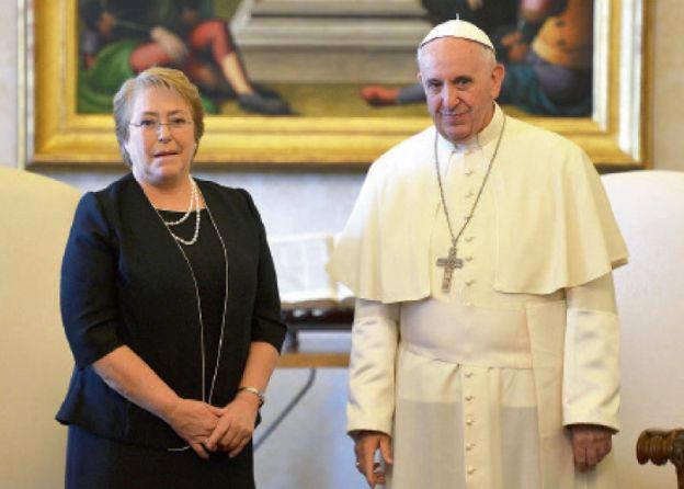 Papa Francisco con Michelle Bachelet