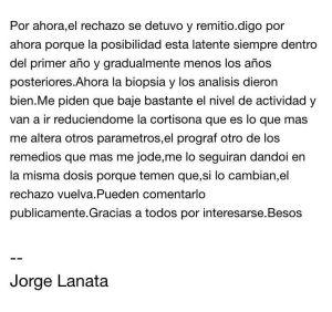 Comunicado Jorge Lanata