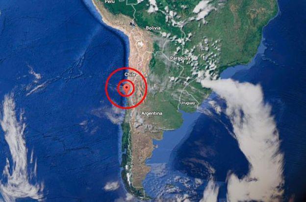 Terremoto y alerta de tsunami en Chile
