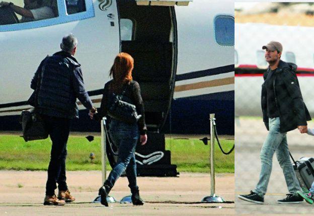 La escapada romántica de Rial y Kämpfer en  avión privado, igual que Tinelli.