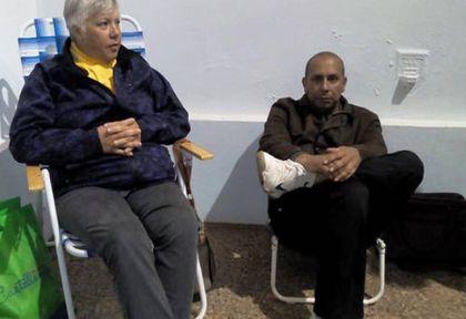 Mónica Balmaceda y Leandro Sánchez realizaron la huelga de hambre seca.