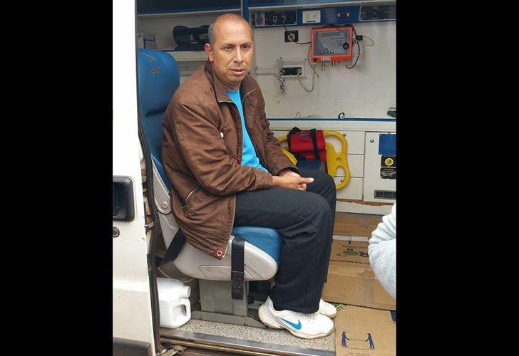 Leandro Sánchez, uno de los realizadores de la huelga de hambre seca.