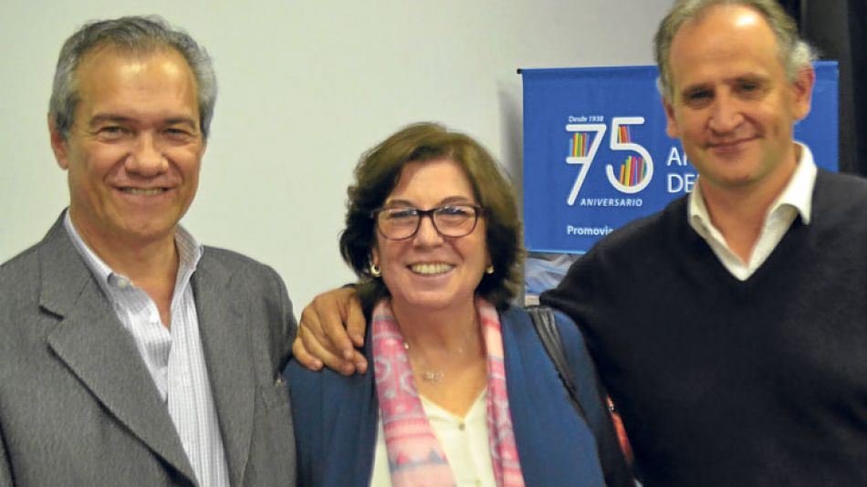 Los ganadores. De izq. a der., Luis Quevedo, Graciela Rosenberg y Martín Gremmelspacher.
