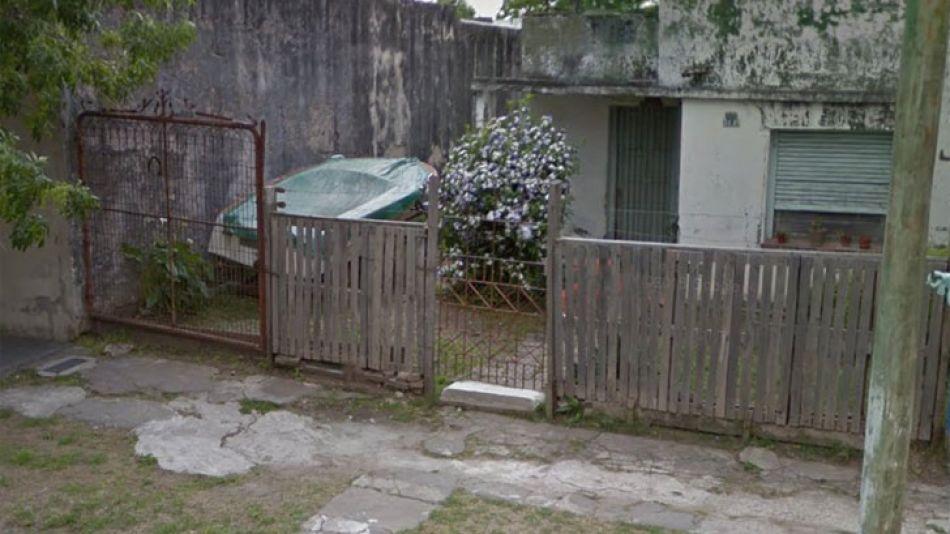 Vivienda de la víctima, en la localidad de Berazategui.