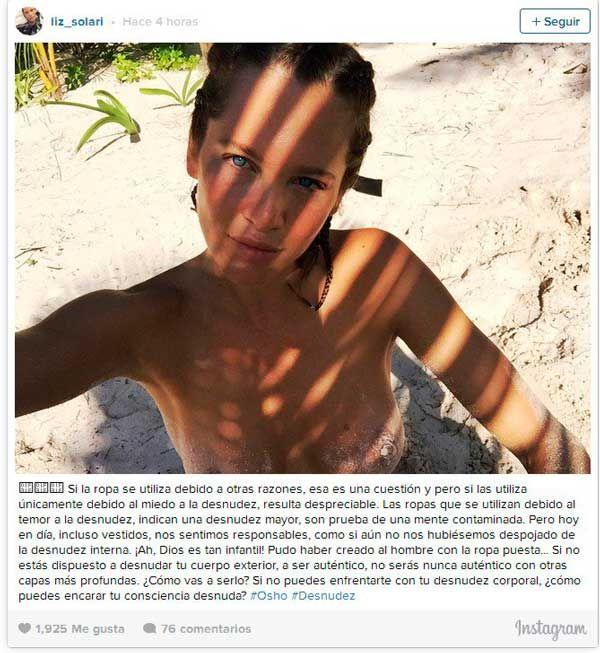 Liz Solari captura Instagram