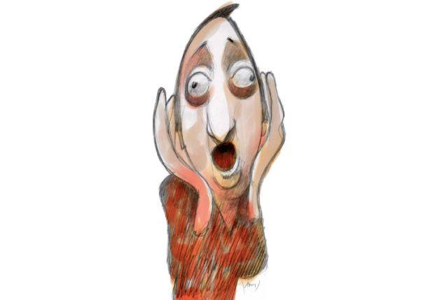 EL GRITO. Una versión kirchnerista del famoso cuadro de Munch. El fin de ciclo llegó en forma inevitable.