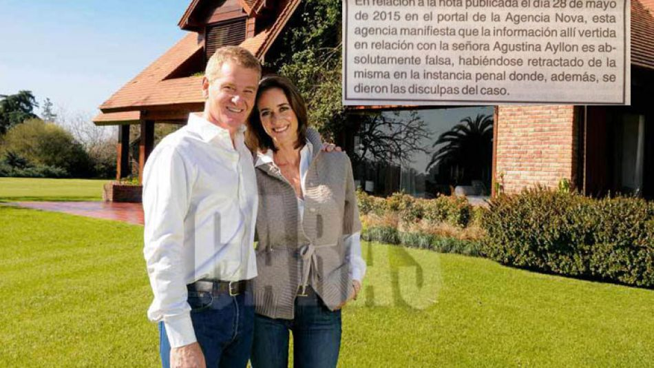 De Narváez y su esposa, Agustina Ayllón.