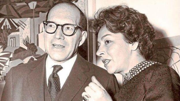 Germán Arciniegas y Emma Reyes.