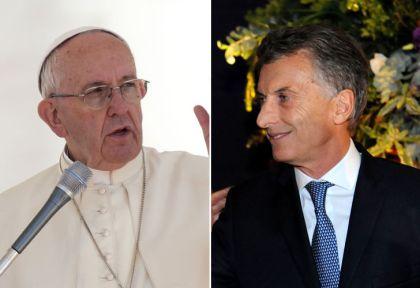 Resultado de imagen para papa francisco y macri