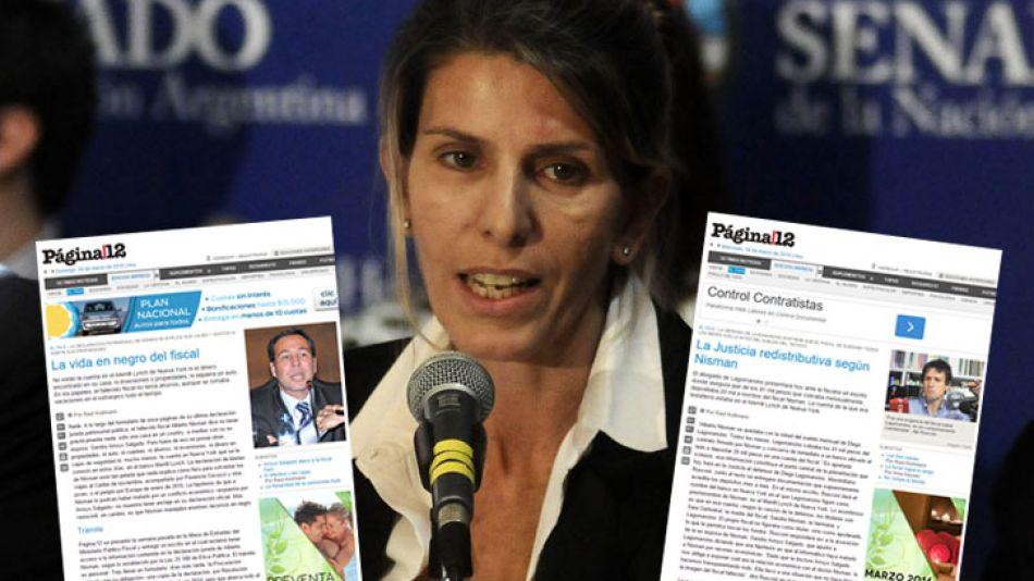 Arroyo Salgado culpó a Página/12 de colaborar con Diego Lagomarsino en una campaña de desprestigio contra Nisman.