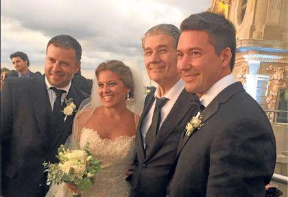 bac87dff8 Víctor Hugo se mostró orgulloso en la boda de Ana Laura, su hija ...