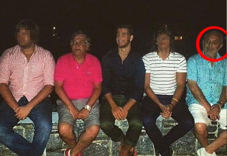 La última imagen de Larcher: enero de 2015 en Punta del Este con el marido de Silvia Majdalani, la actual subjefa de Inteligencia.