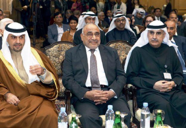 Los ministros de Irán y Kuwait en un foro energético de urgencia.