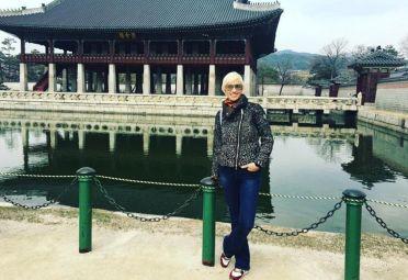 Sola. Ingrid Grudke viajó a Corea sin Cristóbal para tomar distancia.