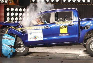 La Ford Ranger obtuvo tres estrellas en la protección del ocupante adulto, según la Latin NCAP.