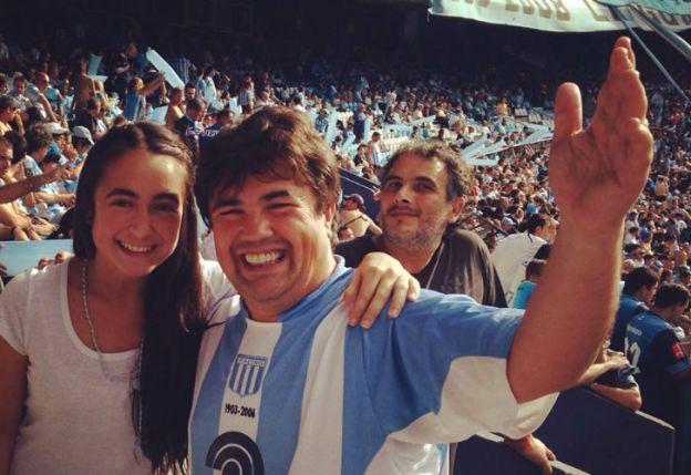 Florencia. Con su padre, Guillermo Marijuan, comparte el amor por Racing Club y por las leyes.