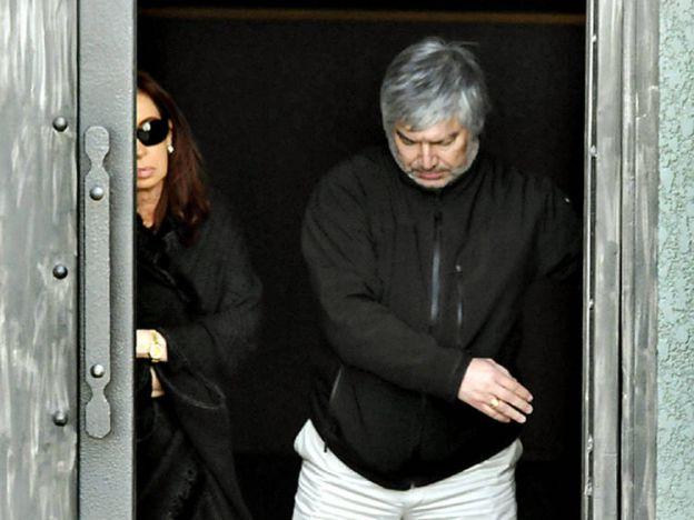 Lázaro Báez preso, Báez detenido, foto báez pres