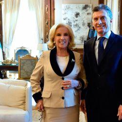 Mirtha Legrand y Mauricio Macri