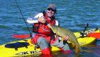Carpa desde el kayak fondeado y con equipo 10-17 lbs.