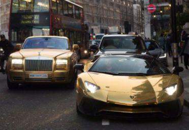 Los exuberantes autos bañados en oro del Príncipe Saudí.