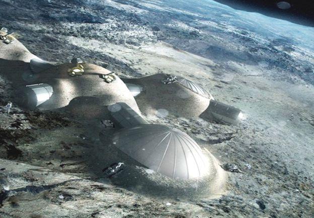Base. Los seres humanos que vayan en busca de aliens podrían tener asentamientos lunares desde donde reabastecerse y lanzarse al resto del Sistema Solar.