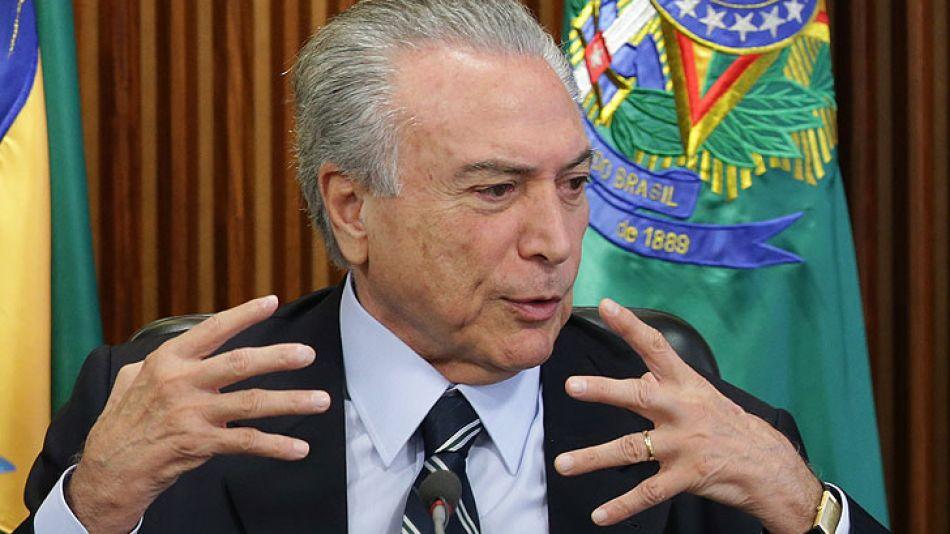 Michel Temer asumió como presidente de Brasil el jueves 12 de mayo.