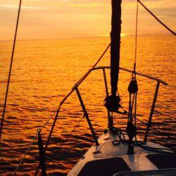 Atardecer a bordo del Tangaroa I