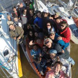 Los barcos y los tripulantes con la GoPro