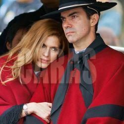 Isabel Macedo y Juan Manuel Urtubey en Salta Acto de Guemes