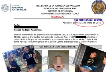 El informe de Inteligencia de Paraguay brindaba datos exactos de dónde estaba el prófugo.