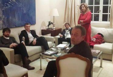 Zunino, en la Quinta de Olivos con el Presidente Macri y los periodistas Eduardo Feinmann y Gloria Lopez Lecoube