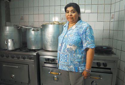 Piletones. La figura de Margarita Barrientos genera cierta polémica entre algunos de sus vecinos.