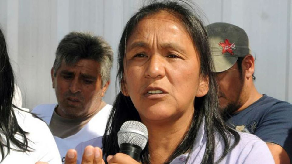 La dirigente de la Tupac Amaru, Milagro Sala.