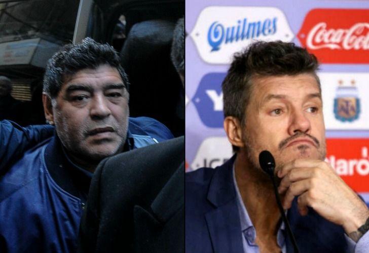 Diego descargó su bronca con Tinelli, pero no por una cuestión de fútbol. // DyN-Télam