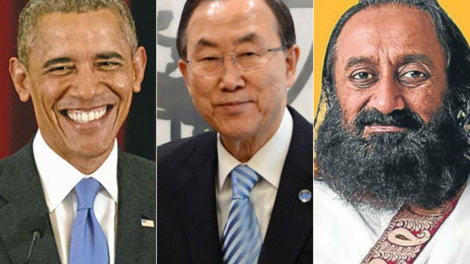 El presidente Barack Obama, el secretario general de la ONU, Ban Ki-moon, y el líder espiritual Ravi Sri Sri Shankar, fueron algunos de los que hicieron llegar sus saludos por el Bicentenario de la In