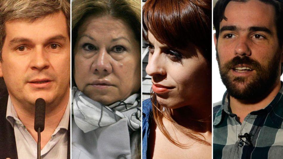 Marcos Peña, Graciela Camaño, Victoria Donda y Nicolás del Caño