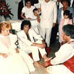 El casamiento umbanda de Cacho Castaña y Selva Mayo.