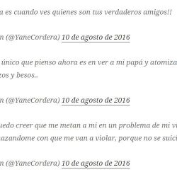 Tuits Yanela Cordera